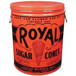 Royal Sugar Cones Store Tin
