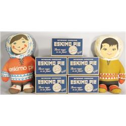 Eskimo Pie NOS Boxes and Stuffed Dolls