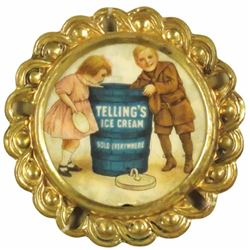 Tellings Ice Cream Celluloid Button