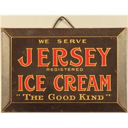 Jersey Ice Cream Beveled Tin Sign