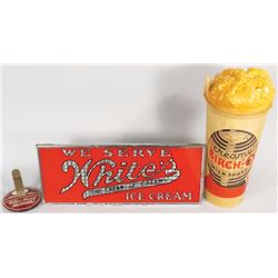Collection of Soda Fountain Advertising Items
