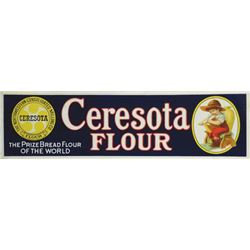 Rare Ceresota Flour Embossed Tin Sign