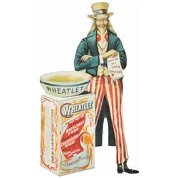 Wheatlet Die Cut Easelback Sign, Uncle Sam