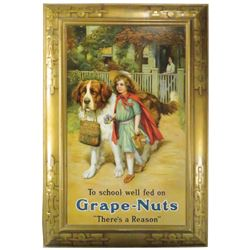 Grape Nuts Self Framed Tin Sign