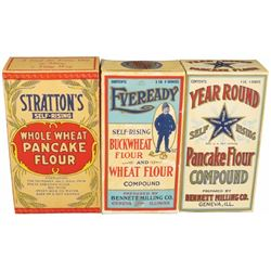 Collection of Cardboard Flour Boxes