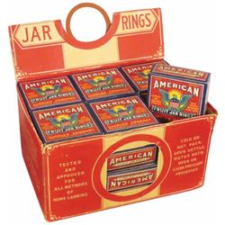 American Fruit Jar Rings Full Store Display