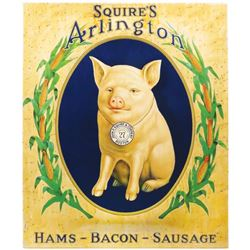 Squire's Arlington Embossed Tin Sign