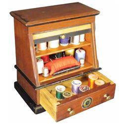 J & P Coats Miniature Spool Cabinet Sewing Kit