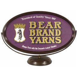 Bear Brand Yarns Counter Top Display Sign