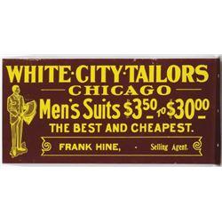 White City Tailors Tin Flange Sign