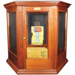 Potter's Silks Lead Country Store Display Cabinet