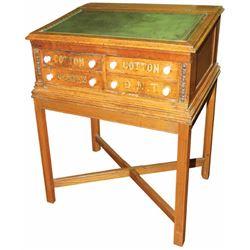 Clark's ONT Leather Top Desk Spool Cabinet