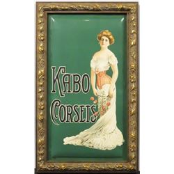 Kabo Corsettes Beveled Celluloid Sign