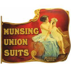 Munsingwear Die Cut Tin Two Sided Sign
