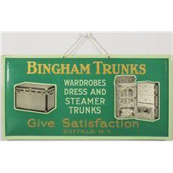 Bingham Trunks Beveled Cardboard Sign