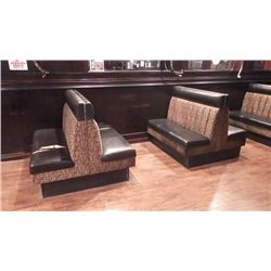 LOT OF 16 BOOTHS  / BENCHES