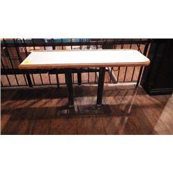 1 LOW DOUBLE PEDISTAL BAR TABLE