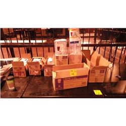 8 BOXES OF UNUSED PLASTIC WATER GLASSES & MISC PARTS