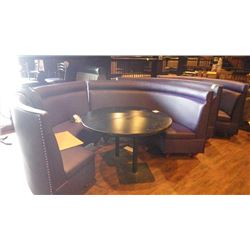 4 HALF CIRCLE BOOTHS / BENCHES