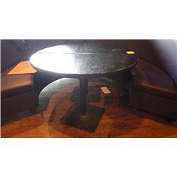 2 BLACK HALF CIRCLE CENTRE BAR TABLES