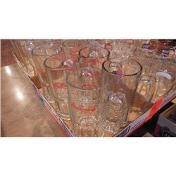 8 TRAYS OF VARIOUS BAR GLASSES PLUS TRAY OF MISC CUPS AND GLASSES
