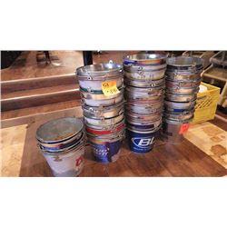3 STACKS OF GALVANIZED BEER BUCKETS
