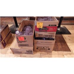 4 CASES OF PLASTIC WATER GLASSES