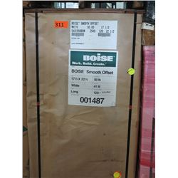 BOISE 23X35 WHITE COMMERCIAL PRINTING PAPER 119M BS70 SMOOTH OFFSET 21M/SK - ENTIRE PALLET