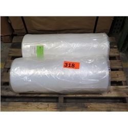 """2 LARGE ROLLS: 24""""X20"""" DINING CHAIR COVER 65178 CLEAR LDPE - CATERING USE, ETC."""