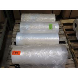 """4 LARGE ROLLS: 24""""X20"""" DINING CHAIR COVER 65178 CLEAR LDPE - CATERING USE, ETC."""