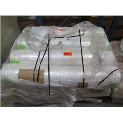 """16 LARGE ROLLS: 24""""X20"""" DINING CHAIR COVER 65178 CLEAR LDPE - CATERING USE, ETC."""