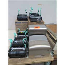 6 MISC. TOILET PAPER/PAPER TOWEL DISPENSERS - WAS USED AS DISPLAY ITEMS