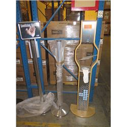 MISC. SANITATION STATION AND POLE-MOUNTS FOR SANITIZERS (sanitizing foam/liquid not included)