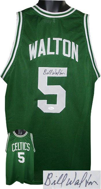 quality design 439df 26862 Bill Walton Signed Boston Celtics Green TB Prostyle Jersey- JSA Hologram