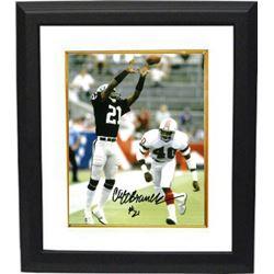 9a32ba78b Cliff Branch Signed Oakland Raiders 8X10 Photo Custom Framed (Black Jersey  Catch)