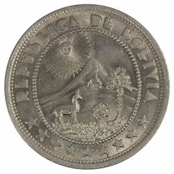 Bolivia 1937 50 Centavo, Brilliant Uncirculated