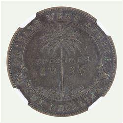 British West Africa 1936 KN 'Specimen' Shilling, NGC SP63
