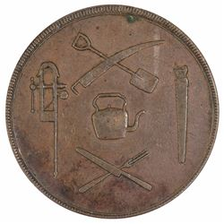 Canada (Quebec) Halfpenny Token, good Very Fine