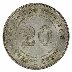 China - Kwang Tung Province (1922) 20 Cent, Choice Uncirculated