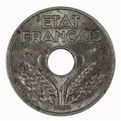 France 1944 20 Centimes in Iron, Lustrous - Choice Uncirculated