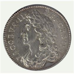 Great Britain (England) James II 1686 Half Crown, PCGS AU53