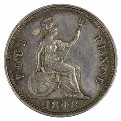 Great Britain Victoria 1848 Groat (4d), good Extremely Fine / about Uncirculated
