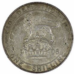 Great Britain Edward VII 1908 Shilling, near Extremely Fine