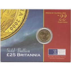 Great Britain Eliabeth II 2000 £25 Brittania (1/4oz)