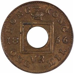 Hong Kong 1866 One Mil, Choice Uncirculated