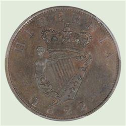 Ireland 1822 George IV Proof Penny, PCGS PR61BN