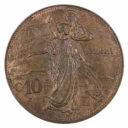Italy 1861-1911 10 Centesimi, Choice Uncirculated with plenty of even colour