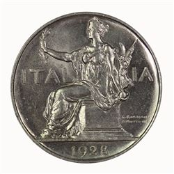 Italy 1928 R Lira, Lustrous Gem