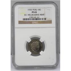 Peru 1935 (L) 10 Cent, NGC PF65