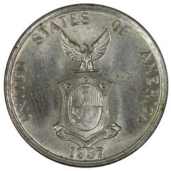 Philippines 1937 M 'Commonwealth' 20 Centavos, Brilliant Gem